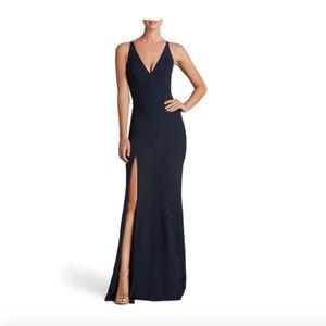DRESS THE POPULATION - Iris Slit Crepe Gown